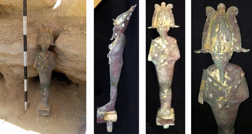 В пирамиде Джосера найдена бронзовая статуэтка Осириса