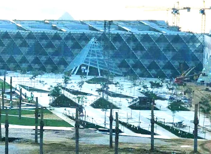 Работы по строительству Большого Египетского музея в Гизе идут полным ходом
